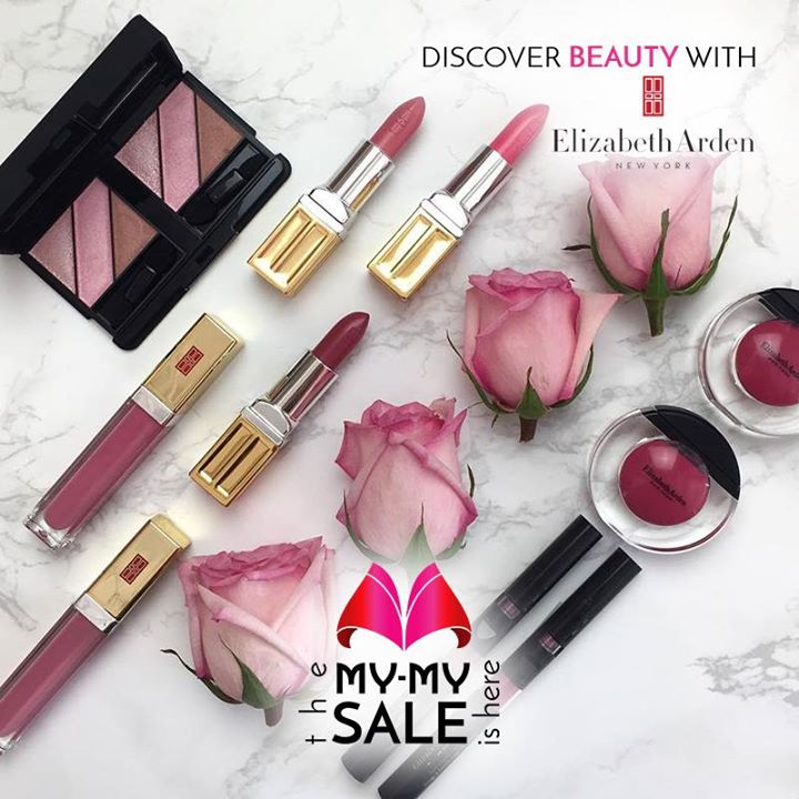 Look your best with America's iconic cosmetic brand, Elizabeth Arden. Stop by our Once-A-Year SALE and find great deals on cosmetics, skincare and much more.   Visit your nearest My-My shop located at C.G. Road and S.G. Highway.  #MyMyAhmedabad #Sale2017