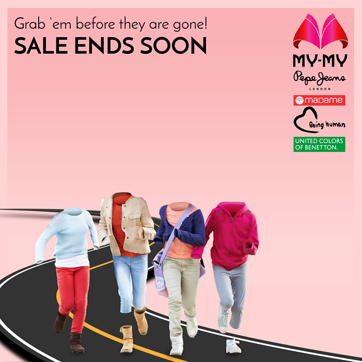 The My-My Once-A-Year sale ENDS SOON!  Grab awesome deals on big brands like United Colors of Benetton, Pepe jeans, Being Human, Madame and more before they are gone.   Visit your nearest My-My shop located at C.G. Road and S.G. Highway.  #MyMyAhmedabad #Sale2017