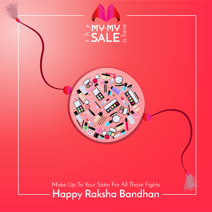 This Raksha Bandhan, celebrate the beautiful bond by gifting your sister something that she loves - make-up and beauty products!  Stop by our Once-A-Year SALE and find great deals on brands such as Loreal, Revlon, Elizabeth Arden and more!  Visit your nearest My-My shop located at C.G. Road and S.G. Highway.  #MyMyAhmedabad #Sale2017 #RakshaBandhan
