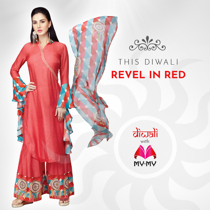 This Diwali, look amazing with our beautiful Diwali collection. We carry a wide range of designer outfits to make you look elegant and stylish all festival long.  Stop by your nearest My-My showroom located at C.G. Road and S.G. Highway to find great deals on our festive collection.  #MyMyAhmedabad #DiwaliShopping