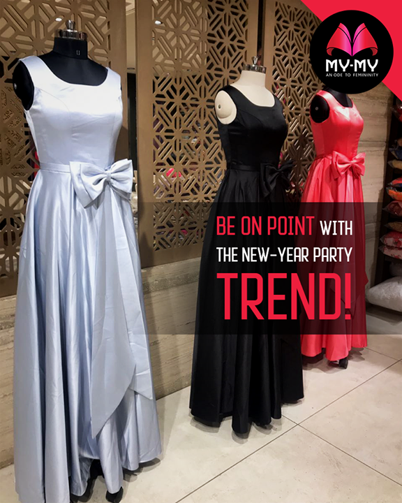 Walk in the party with classy attire from My-My.  #NewYear #PartyWear #Style #CurrentTrend #NewTrend #MyMyAhmedabad #FemalelFashion