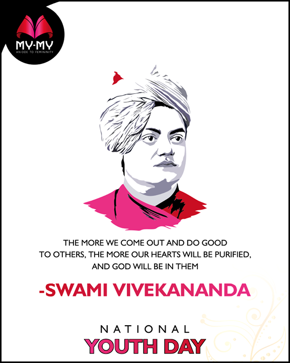 The more we come out and do good to others, the more our hearts will be purified, and God will be in them.  #NationalYouthDay #SwamiVivekananda #Style #CurrentTrend #NewTrend #MyMyAhmedabad #FemalelFashion #Fashion