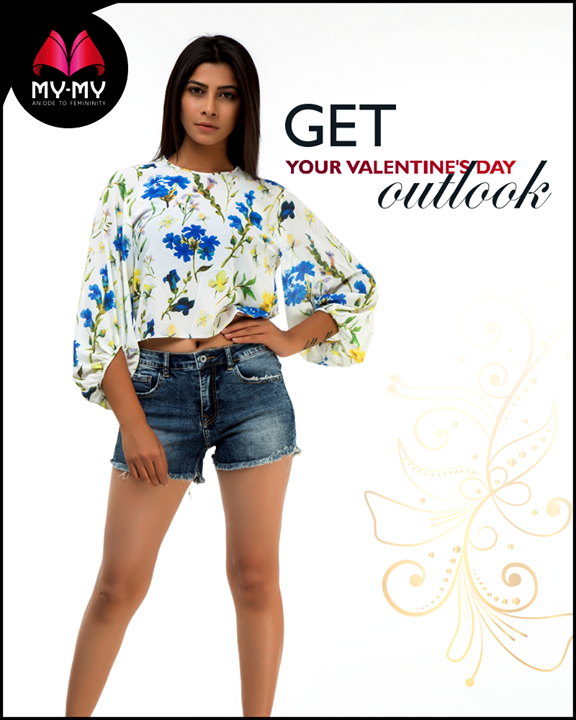 Look fab on this valentine's day with classy trendy fashion from My-My  #ValentinesDay #Style #CurrentTrend #NewTrend #MyMyAhmedabad #FemalelFashion #Fashion