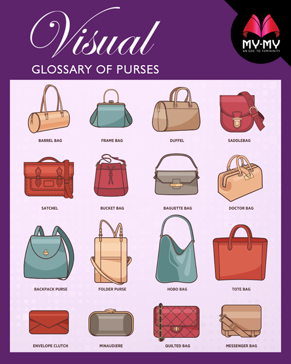 Here's your guide onto the glossary of purses.  #FashionTips #MyMyAhmedabad #Fashion #Ahmedabad