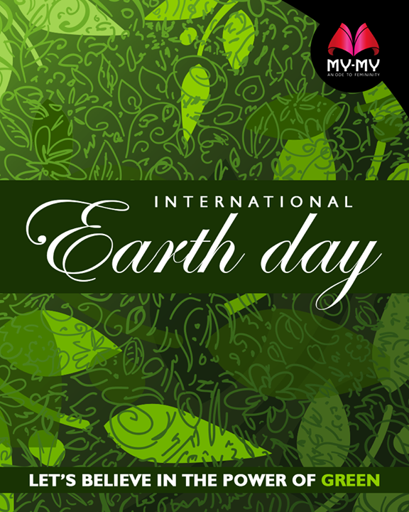 Let's believe in the power of green.  #EarthDay #InternationalEarthDay #Earthday2018 #SaveEarth #SaveNature #MyMy #MyMyAhmedabad #Fashion #Ahmedabad