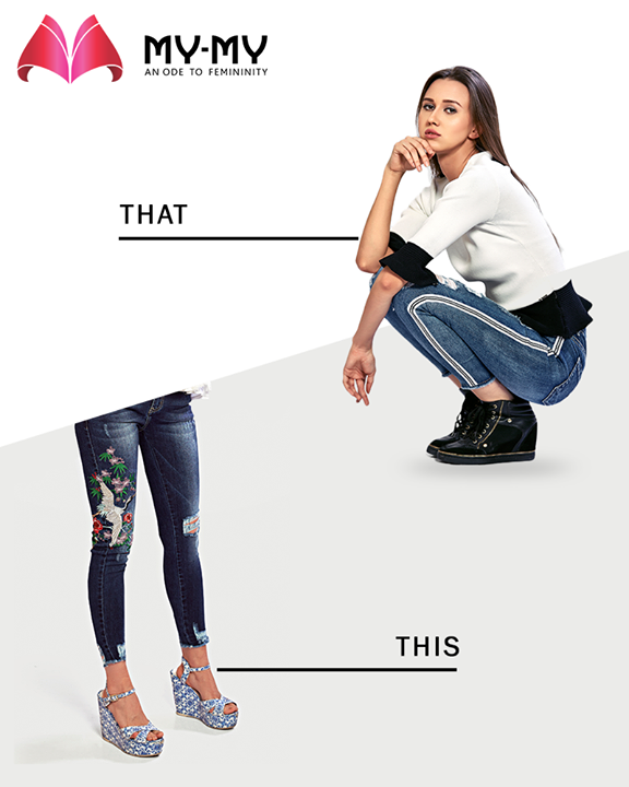 Which denim print would you prefer?  #MyMy #MyMyAhmedabad #Fashion #Ahmedabad