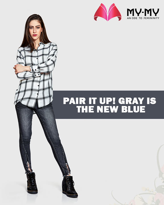 Pair the striking gray checked shirt with dark coloured denims.  #MyMyAhmedabad #BeFashionable #Fashion #Ahmedabad