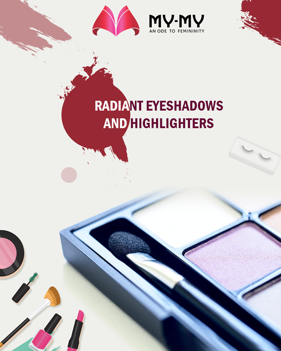 Add a depth and dimension to your eyes, by using eye shadows and highlighters  #MyMy #MyMyAhmedabad #Fashion #Ahmedabad #Makeup