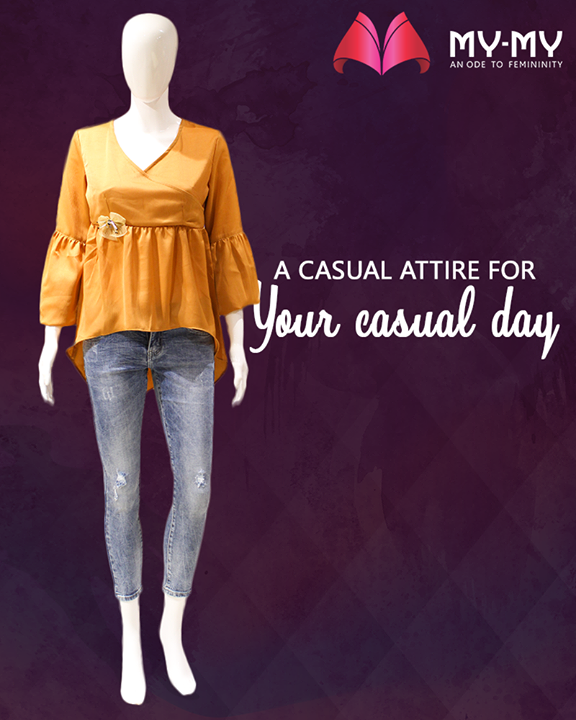 We <3 a casual day! How about you?  #MyMy #MyMyAhmedabad #Fashion #Ahmedabad