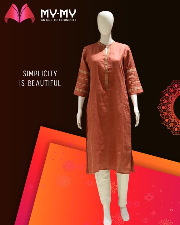 Simplicity is beautiful in itself!   #MYMYStore #Fashion #FestiveShopping #Shopping #FashionStore #Gujarat #India