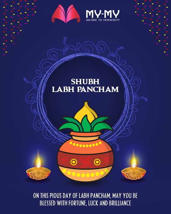 On this pious day of Labh Pancham, may you be blessed with fortune, luck, and brilliance  #HappyLabhPancham #ShubhLabhPancham #LabhPancham #Celebration #FestiveSeason #IndianFestivals  #MYMYStore #Fashion #Shopping #FashionStore #Gujarat #India #Travel