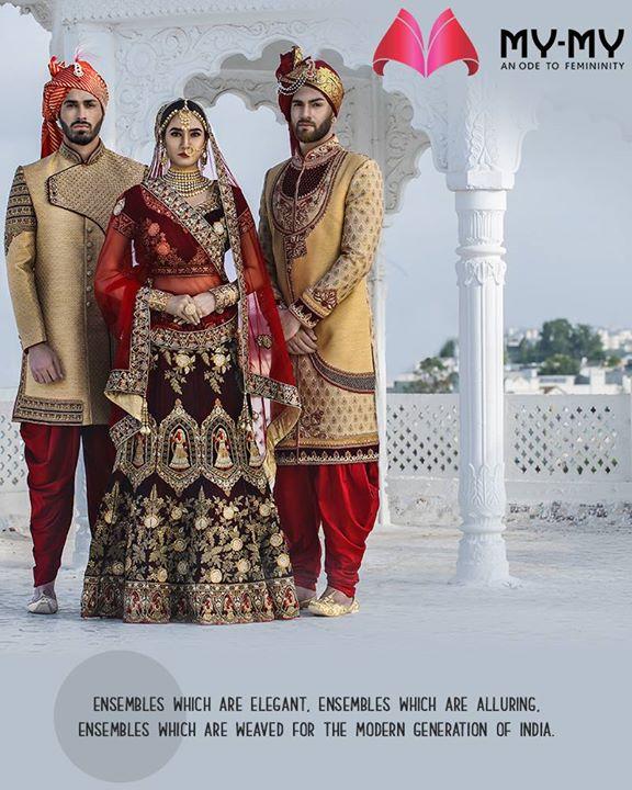Explore our classic & abiding collection to look regal on your wedding!   #BridalCollection #Wedding #BridesOfIndia #BridalWear #TraditionalWear #FemaleFashion #Ahmedabad #EthnicWear #Elegance #BeautifulDresses #Fashion #Sparkle #Gujarat #India