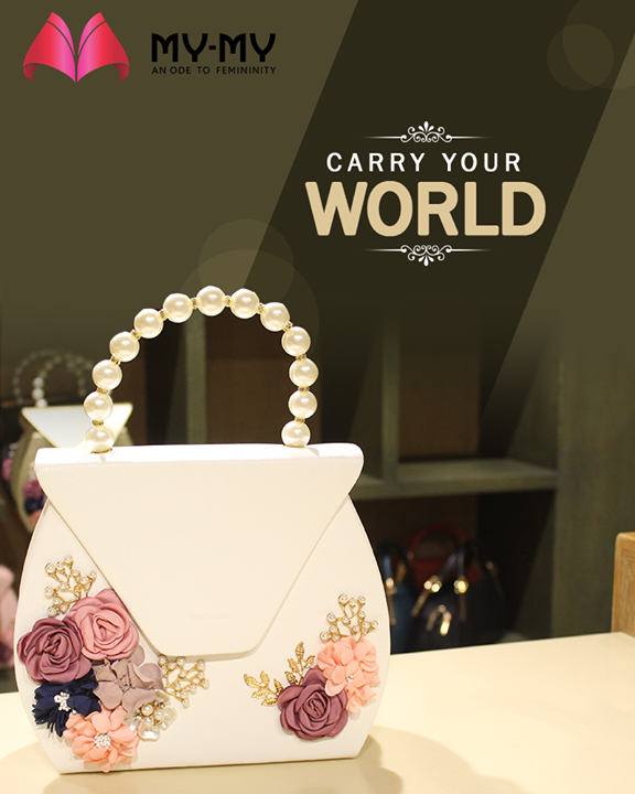 Hand-pick the designer bag that best fits your choice and carry your world in style.  #MYMYStore #BagsToFallFor #EverydayEssentials #Fashion #DesignerBags #Shopping #FashionStore #Gujarat #India