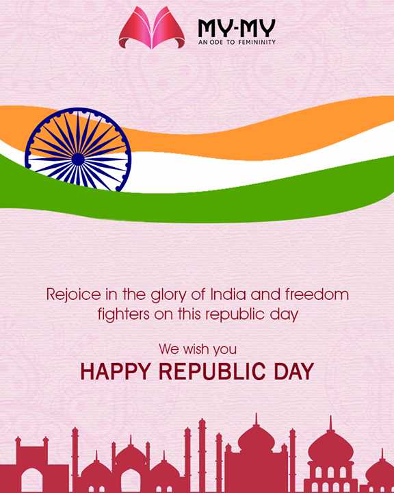 Rejoice in the glory of India & freedom fighters on this Republic Day!  #RepublicDay #RepublicDay2019 #26thJan #HappyRepublicDay #MyMy #Ahmedabad #EthnicWear #BeautifulDresses #Sparkle #Gujarat #India