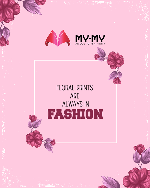 Awaken up to the beauty of floral pattern and explore My-My's floral galore.  #TOTD #QOTD #FashionQuotes #TimelessClassics #StatementPieces #RedefineSenseOfLuxury #PhilosophyOfDressing #FemaleFashion #Ahmedabad #FallForFashion #BeautifulDresses #Sparkle #Gujarat #India