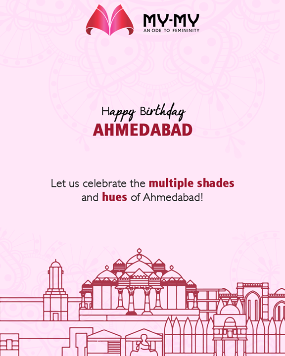 Let's celebrate the multiple shades & hues of Ahmedabad!  #MYMY #Ahmedabad #FallForFashion #BeautifulDresses #Sparkle #Gujarat #HappyBirthdayAhmedabad #AhmedabadBirthday #MaruAmdavad