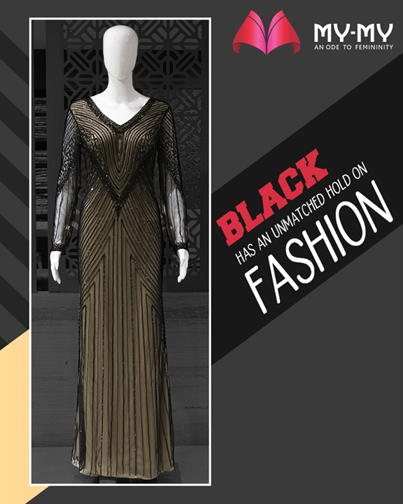 Black has an unmatched hold on fashion. Foolproof your wardrobe with a must-have, bold and beautiful black dress!  #BoldAndBeautifulBlack #BlackIsBae #ChicAndBold #LookStellar #FascinatingFashionDestination #FemaleFashion #Ahmedabad #EthnicWear #BeautifulDresses #Sparkle #Gujarat #India