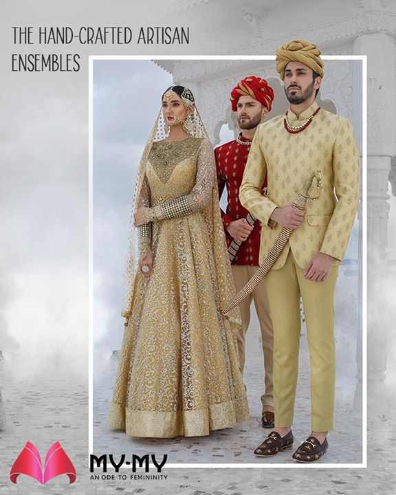 Look unconventional and steal many stares with the hand-crafted artisan ensembles from My-My  #HeartWinningEthnicWears #BridalCollection #BridesOfIndia #BridalWear #TraditionalWear #FemaleFashion #Ahmedabad #EthnicWear #Elegance #BeautifulDresses #Fashion #Sparkle #Gujarat #India