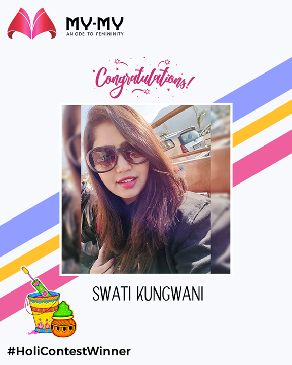Congratulations, please inbox your contact details!  #HoliContestWinner #HoliContest #FacebookContest #ContestWinner #MYMY #GuessTheMovie #EthnicWear #Elegance #BeautifulDresses #Fashion #Sparkle #Gujarat #Ahmedabad #India