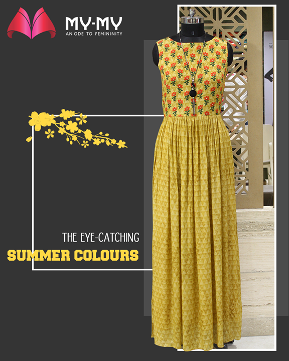 Outshine the heat vibes by adding this eye-catching coloured apparel to your summer wardrobe.  #DroolworthyDesign #TrendingOutfits #AssortedEnsembles #FemaleFashion #SummerColours #SummerWardrobe #Ahmedabad #MYMY #Gujarat #India