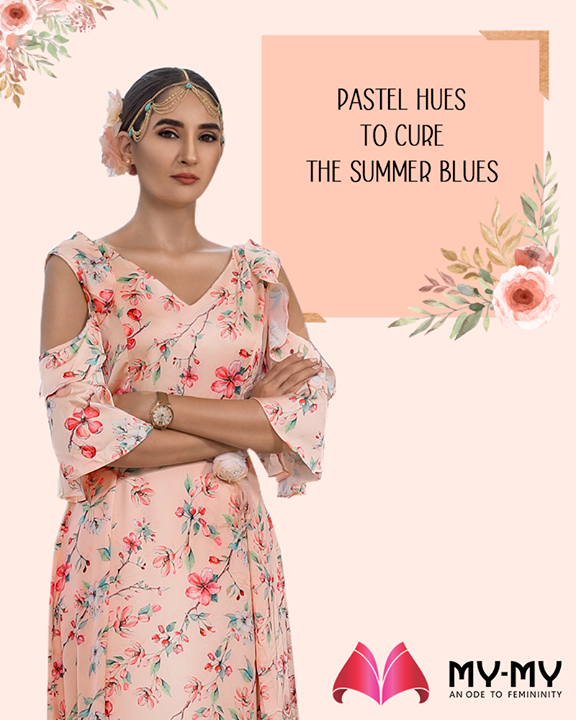Cure the summer blues in pastel hues! Pay a visit to the fascinating fashion destination; My-My and hand-pick the exquisite ethnic ensembles.  #ExquisiteEnsembles #WinsomeDresses #InvokeElegance #RedefineSenseOfLuxury #PhilosophyOfDressing #ContemporaryFashion #FemaleFashion #Ahmedabad #FallForFashion #BeautifulDresses #Sparkle #Gujarat #India