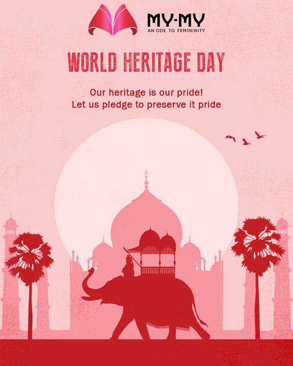 Our heritage is our pride! Let us pledge to preserve it pride  #WorldHeritageDay #HeritageDay #MyMy #FemaleFashion #Ahmedabad #BeautifulDresses #Sparkle #Gujarat #India