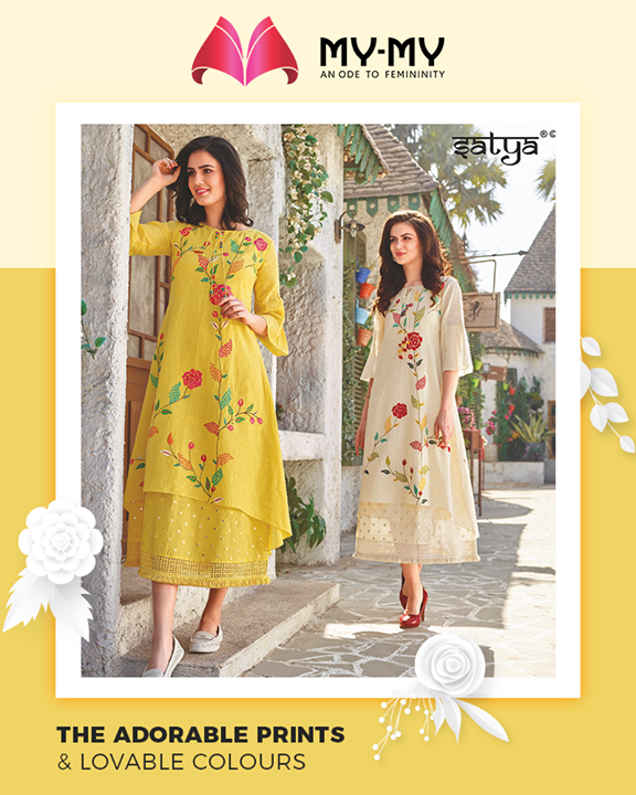 In order to spruce up your summer aesthetic My-My brings you the perfect infusion of adorable prints and loveable colours.  #TrendingOutfits #AssortedEnsembles #FemaleFashion #SummerColours #SummerWardrobe #Ahmedabad #MYMY #Gujarat #India