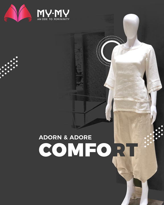 For the one who chooses comfort over everything.   #MYMYStore #SummerEssentials #SummerClothing #Summer #EverydayEssentials #Fashion #DesignerBags #Shopping #FashionStore #Gujarat #India