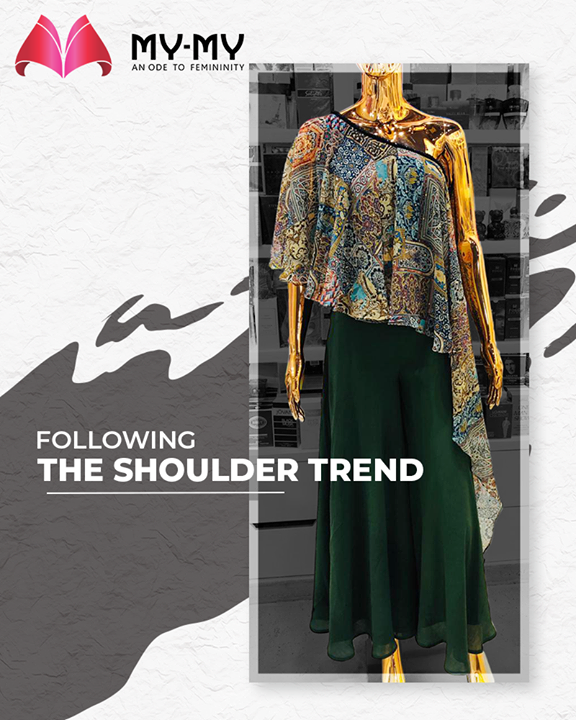 Keep your head high & dazzle your day ahead with this off-beat one shoulder top!   #MyMy #MyMyCollection #ExculsiveEnsembles #ExclusiveCollection #Ahmedabad #Gujarat #India