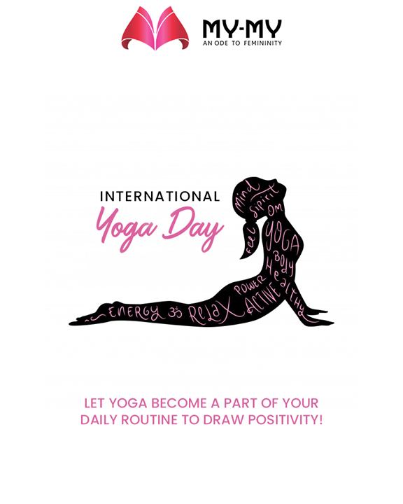 Let Yoga become a part of your daily routine to draw positivity!  #InternationalDayofYoga #InternationalYogaDay #YogaDay #YogaDay2019 #Yoga #IDY2019 #IYD2019 #MyMy #MyMyCollection #ExculsiveEnsembles #ExclusiveCollection #Ahmedabad #Gujarat #India