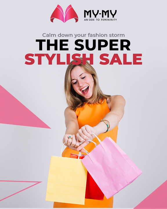 If fashion is all you're passionate about, then say no to the further delay and quench your fashion thirst at THE SUPER STYLISH SALE!   #TrendyThursday #SuperStylishSale #Sale #SpecialOffer #MyMy #MyMyCollection #ExculsiveEnsembles #ExclusiveCollection #Ahmedabad #Gujarat #India
