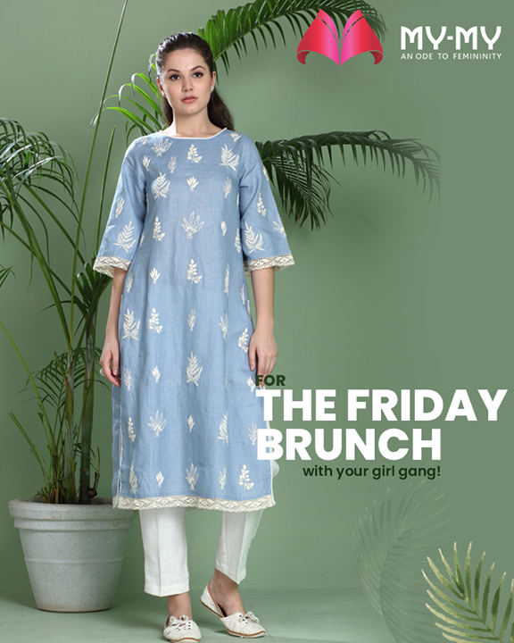 Going for Friday Brunch with your girl gang?   Try your hands on this trendy & comforting Kurta!   #SuperStylishSale #Sale #MyMySale #Sale2019 #MyMy #MyMyCollection #ExculsiveEnsembles #ExclusiveCollection #Ahmedabad #Gujarat #India