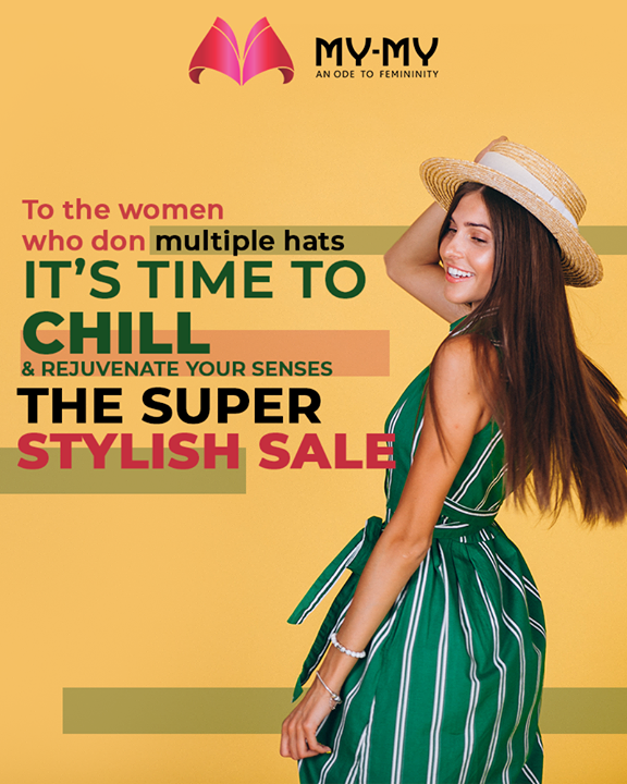 Ladies, we truly salute your multitasking efforts, but yes you gotta take a chill pill & surely have to bid a forever goodbye to stress & worries by heading to THE SUPER STYLISH SALE to enrich your senses!   #SuperStylishSale #Sale #MyMySale #Sale2019 #MyMy #MyMyCollection #ExculsiveEnsembles #ExclusiveCollection #Ahmedabad #Gujarat #India