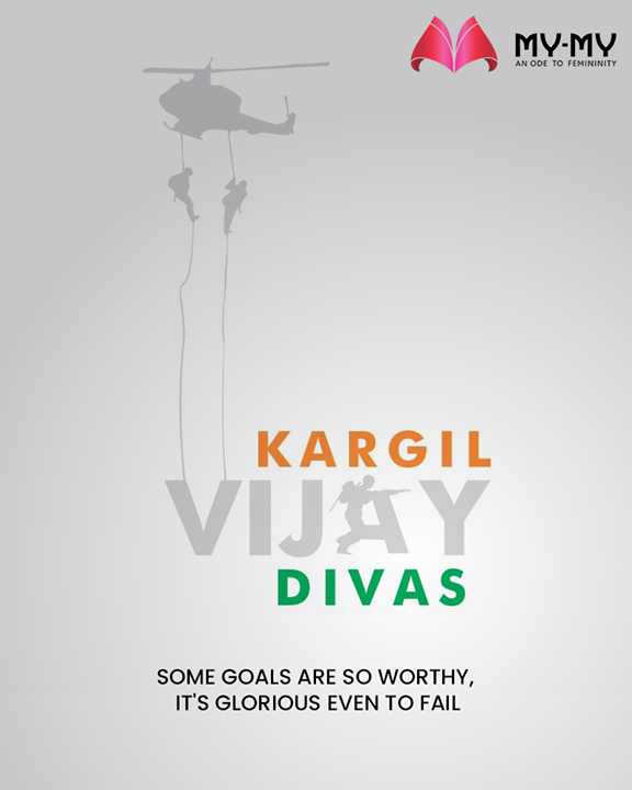 Some goals are so worthy, It's glorious even to fail    #KargilVijayDiwas #JaiHind #Salute #20YearsOfKargilVijay  #IndianArmy #OperationVijay #MyMy #MyMyCollection #ExculsiveEnsembles #ExclusiveCollection #Ahmedabad #Gujarat #India