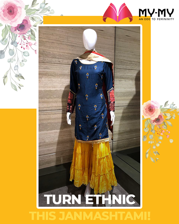 Turn ethnic & look vibrant, this Janmashtami!   #MyMySale #Sale2019 #MyMy #MyMyCollection #ExculsiveEnsembles #ExclusiveCollection #Ahmedabad #Gujarat #India