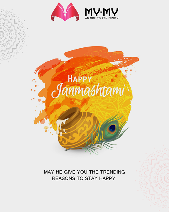 May he give you the trending reasons to stay happy.  #LordKrishna #Janmashtami #HappyJanmashtami #Janmashtami2019 #MyMy #MyMyCollection #ExculsiveEnsembles #ExclusiveCollection #Ahmedabad #Gujarat #India