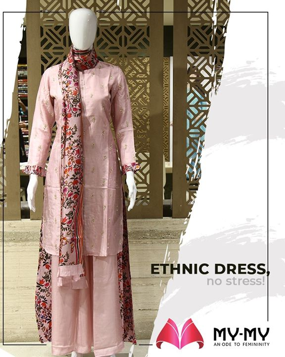 Ethnic dress, no stress! Glam up your ethnic look with this beautiful and elegant design.  #TrendingOutfits #AssortedEnsembles #AestheticPerfection #ImpeccableOutfits #LookStellar #FascinatingFashionDestination #FemaleFashion #Ahmedabad #EthnicWear #Sparkle #Gujarat #India