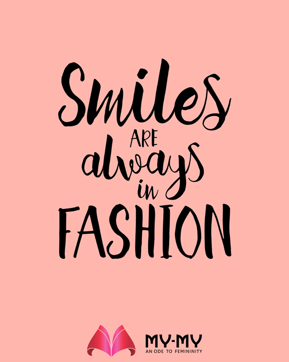 Smile & always be in fashion!   #MYMY #TrendingOutfits #AssortedEnsembles #FemaleFashion #Ahmedabad #Gujarat #India