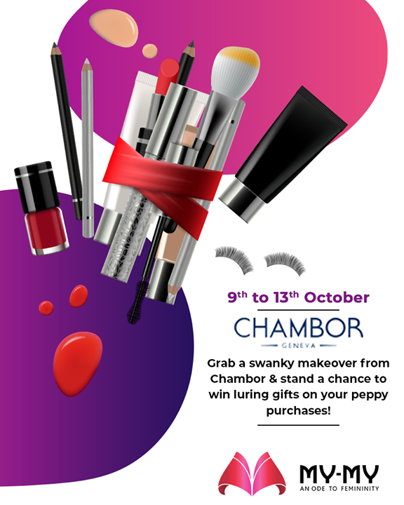Grab a swanky makeover from Chambor & stand a chance to win luring gifts on your peppy purchases!  P.S. This makeover is for free & you cannot afford to miss this! #Makeover #Makeup #Accessories #NavratriOffer #NavratriLook #FestiveLook #BeautyMYMY #Gujarat #India