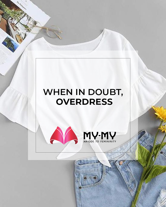 When in doubt, overdress.  #SoftAppearances #EtherealLook #DroolworthyDesign #TrendingOutfits #AssortedEnsembles #FemaleFashion #Ahmedabad #MYMY #Gujarat #India