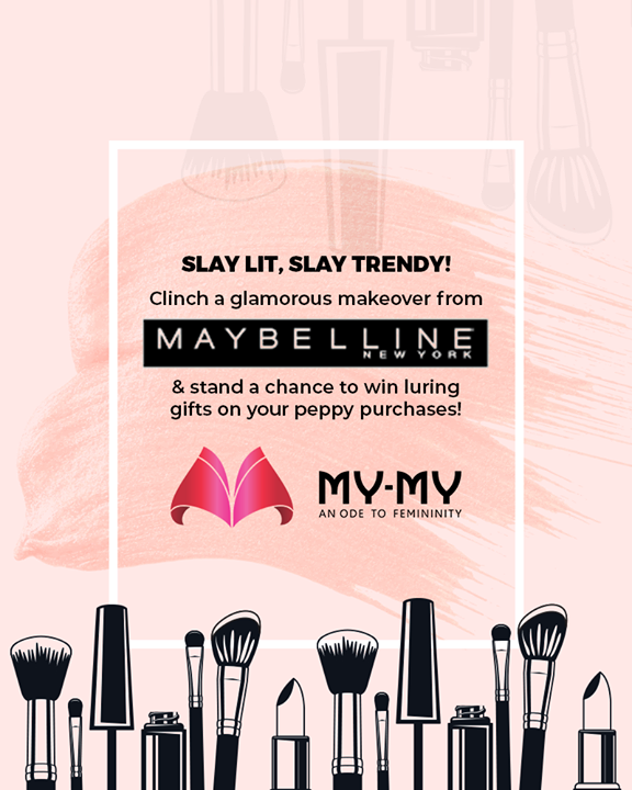 Caption - Slay lit, slay trendy!   Clinch a glamorous makeover from Maybelline & stand a chance to win luring gifts on your peppy purchases!  P.S. This makeover is for free & you cannot afford to miss this!  #Makeover #Makeup #Accessories #Diwalilook #Diwalimakeover #FestiveLook #BeautyMYMY #Gujarat #India