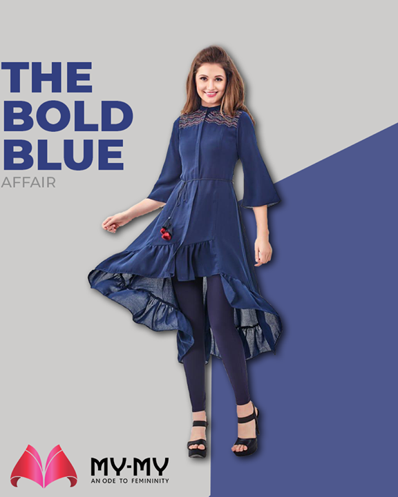 Keep your head high & dazzle your day ahead with this off-beat blue shaded top!   #MyMy #MyMyCollection #ExculsiveEnsembles #ExclusiveCollection #Ahmedabad #Gujarat #India