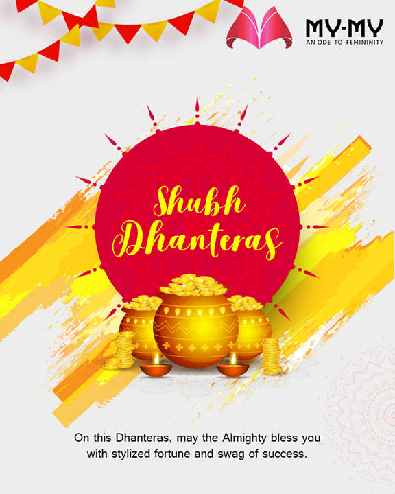 On this Dhanteras, may the Almighty bless you with stylized fortune and swag of success.  #Dhanteras #Dhanteras2019 #ShubhDhanteras #IndianFestivals #DiwaliIsHere #Celebration #HappyDhanteras #FestiveSeason #Diwali2019 #MyMy #MyMyCollection #ExculsiveEnsembles #ExclusiveCollection #Ahmedabad #Gujarat #India