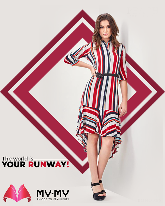 Everyday is a fashion show & the world is your runway! Leave a timeless mark by donning this colorful outfit from My My.  #TrendingOutfits #AssortedEnsembles #AestheticPerfection #ImpeccableOutfits #LookStellar #Fascinating #FashionDestination #FemaleFashion #Ahmedabad #MYMY #Gujarat #India