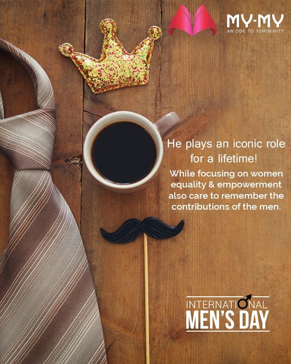 He plays an iconic role for a lifetime in every facet of life. While focusing on women equality & empowerment also care to remember the contributions of the men.  #InternationalMensDay #MensDay #MensDay2019 #MyMy #MyMyCollection #ExculsiveEnsembles #ExclusiveCollection #Ahmedabad #Gujarat #India