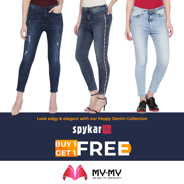 Ladies, look edgy & elegant with our peppy denim collection. Head-in soon to grab this lucrative deal before it goes off the shell.  #MyMy #MyMyCollection #ExculsiveEnsembles #ExclusiveCollection #Ahmedabad #Gujarat #India