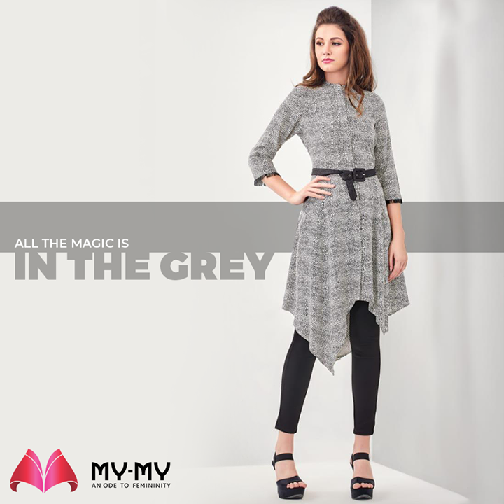 All the magic is in the Grey.  #MyMy #MyMyCollection #femalefashion #womensstyle #studentfashion #womensfashionwear #urbanfashion #fashionmotivation #womenclothingstore #womensfashionrange #womensurbanfashion #fashion #vogue #clothes #ExculsiveEnsembles #ExclusiveCollection #Ahmedabad #Gujarat #India