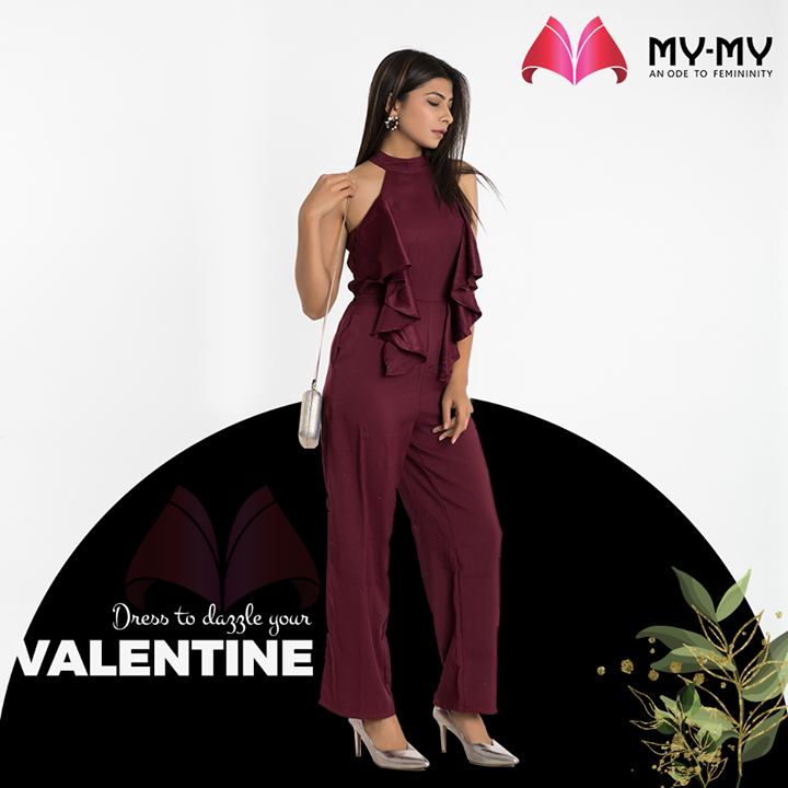 Bloom in beauty and fall head over heels with lovely Valentine's Day dresses from My-My.  #DazzleYourValentine #MonthOfLove #FlauntYourFashion #MyMy #MyMyCollection #WesternOutfits #ExculsiveEnsembles #ExclusiveCollection #Ahmedabad #Gujarat #India