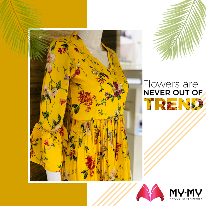 The classic florals are always in trend to make your look better and bright.  #MyMy #MyMyCollection #Flowers #Floralprints #Floral #Yellowcolor #Brightyellow #WesternOutfits #vibrantcolors #ExculsiveEnsembles #ExclusiveCollection #Ahmedabad #Gujarat #India