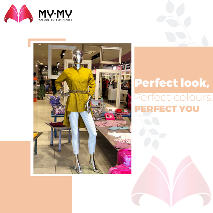 Perfect look, Perfect colours, Perfect you - always!  #MyMy #MyMyCollection #Comfy #Classic #Comfortableoutfits #WesternOutfits #vibrantcolors #ExculsiveEnsembles #ExclusiveCollection #Ahmedabad #Gujarat #India